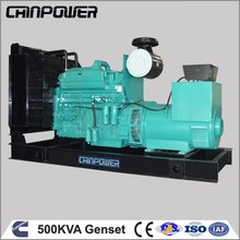 500kva open type low speed permanent magnet with human power backup electric generator