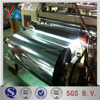 metallic polyester pet film/met pet lamination film/laminating roll packing metalized PET film
