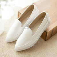 2014 fashion women ladies fancy flat PU shoes