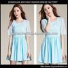 New fashion casual chiffon dresses for women, lace chiffon dress