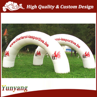 White Inflatable Arch for Advertising, Archway for Promotion and Rental