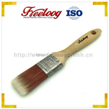 Wholesale wooden handle flat filaments wall paint brushes
