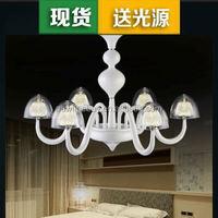 The new LED living room chandelier lamp tube restaurant bedroom lamp simple fashion luxury villa chandelier lamp