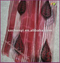 fashion design voile jacquard fabric for windown curtain