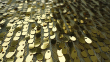 2015new golden melon seed piece sequin embroidery fabric for gament or stage prop