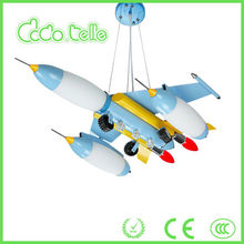 Blue model aircraft battery lamps for kids new wholesales bedroom moroccan chandelier modern lighting alibaba in russian E14