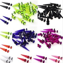 Wholesale Acrylic fake spiral stretchers sizes ear expander jewelry , Unique flesh fake ear expander body jewelry