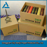 2015 hot sale custom wholesale Corrugated Wrapping Paper Washing Powder Storage Box Packing