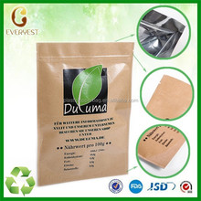 New Products clear plastic zippered storage bag for tea china manufacturer