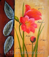Hot selling excellent oil painting flower picture