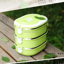 color lunch box two layer plastic stainless steel lunch box