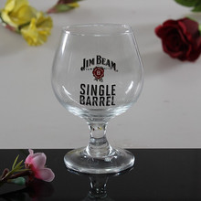 The Promotion Of The Red Wine Goblet Glass With Logo Painting