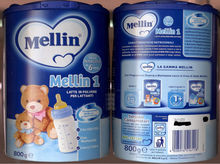 Mellin baby milk powder from Danone
