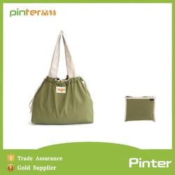 Pinter 2015 fashion custom polyester foldable shopping bag,reusable shopping bag
