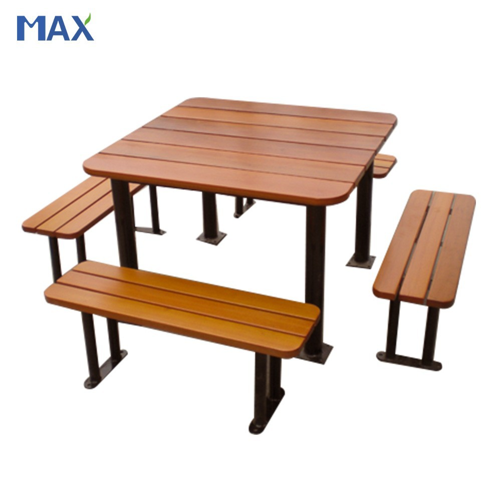Wood plastic composite outdoor garden bench convertible table buy bench con - Table jardin composite ...