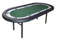 "84"" Folding Metal Leg High End Poker Table TPT-029"