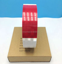 red and white diamond grade self-adhesive PET reflective tape for truck and vehicles