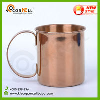 Copper Plating Stainless Steel Coffee Mug Copper Mug with BIG Handle 2015 New Arrival