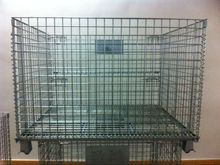 Evergreat galvanizing stackable steel wire mesh cage/wire mesh container