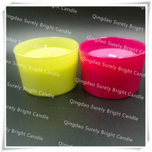 glass candle/glass gift candle/scented velas