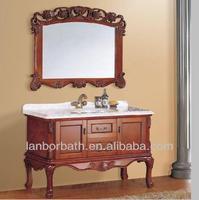 Floor standing hand carved antique bathroom vanity LV001