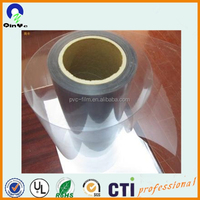 rigid clear pharmaceutical packing pvc plastic film rolls