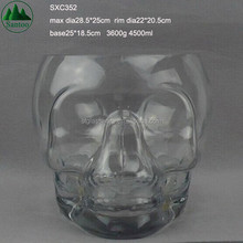 4500ml Large Big Giant Skull Glass Ice Holder and Tongs