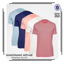 Soild Color Breathable Cotton Blank Short Sleeve Men T-Shirt