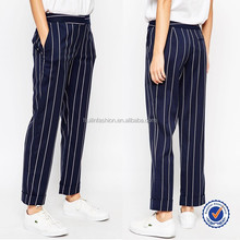 latest ladies trousers designs women office wear and casual black and white stripe pants