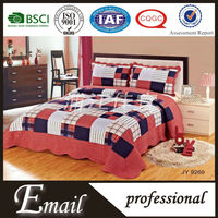 2015 Wholesale Square grid pattern plaid patchwork puff bedding set/sets