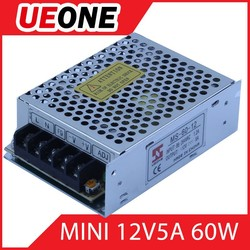 Metal case 12v 5a LED switching power supply 60w