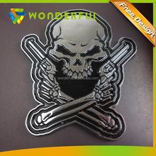 Auto Accessories Fashion Skull Chrome ABS Car Badge Emblem Decorative Logo Emblem