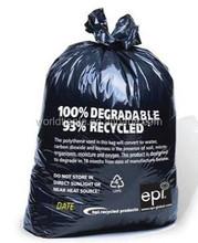 33 GAL(124L) recycled value packed heavy duty plastic black trash bag, black waste bag