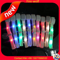 Manufacture Wholesale NFC/ RFID Radio Controlled LED RGB Wristband Light UP Bracelets LED Festival Wristband For Concert Event
