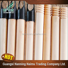110*2.5 120*2.5 130*2.5 150*2.5cm natural wooden broom handle for iraq customer with greek screw