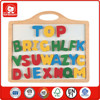import kids toys from china from A to Z 26 numbers with small white board educational wooden alphabet puzzle toy