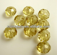 crystal beads, faceted rondelle glass beads,flat beads