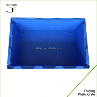blue plastik box storage moving plastic logistics foldable boxes 550*365*210mm