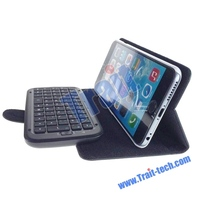 Hot sellilng Wireless Bluetooth Keyboard Flip Stand PU Leather Case for iPhone 6s Plus