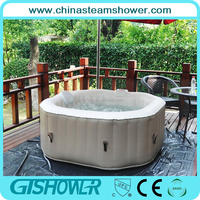 4 persons Inflatable hot tub massage spa bubble pool