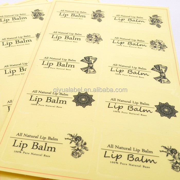 Self adhesive lip balm vinyl cutting label sticker