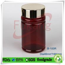 Wholesale Bottle Plastic , 100ml Bottle PET Plastic , Bottle Plastic for Medicine & Pills