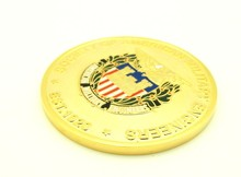 Wholesale High Quality Custom Medal Zinc Alloy Gold Military Coin Medal