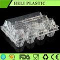 Precio de fábrica desechable blister 12 unids plástico PVC / PET bandeja de huevos
