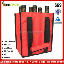 Wholesale 600D Polyester 6 pack wine bottle bag, wine bag