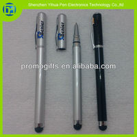 Hot sell capacitive screen 2 in 1 stylus pen