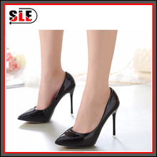 The fall of 2015 single Xiechao high-heeled shoes with pointed 12CM nightclub occupation fine candy colored Patent Heels