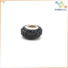 Acrylic Rhinestone Large Hole Beads For Jewelry