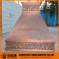 Traditional solid wall mount range hood for kitchen
