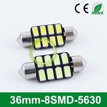 High technology manufacturer car light led 12v 36mm-8smd 12v bulbs for car 5630 light led automotive
